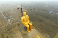 河南通許36公尺毛澤東雕像 被拆除