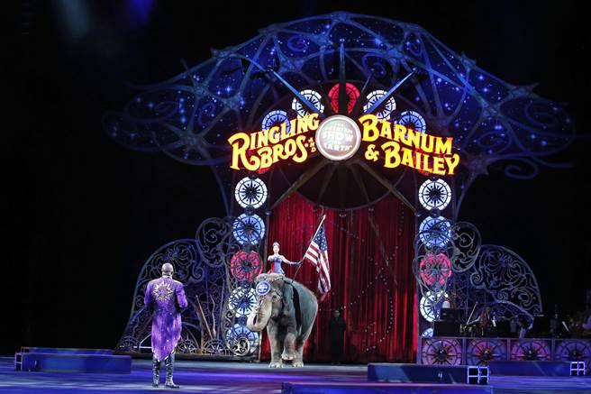 玲玲馬戲團去年三月在華盛頓州的表演。(美聯社)