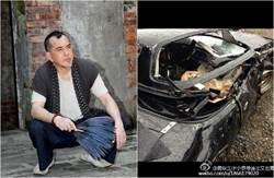 黃秋生兒在美車禍 「撞到這樣都生還」