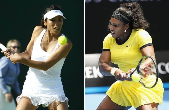 謝淑薇(左)將在澳網女單第2輪對上小威廉絲。(美聯社資料照)