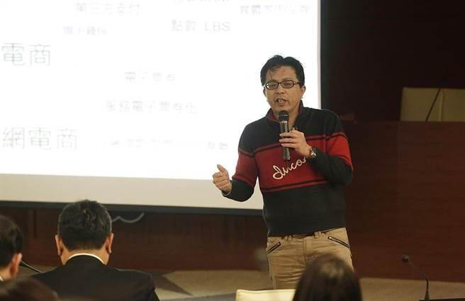 「電商大未來」講座講員─Yahoo奇摩台灣暨香港電子商務事業群副總裁王志仁。(圖/林勝發攝)