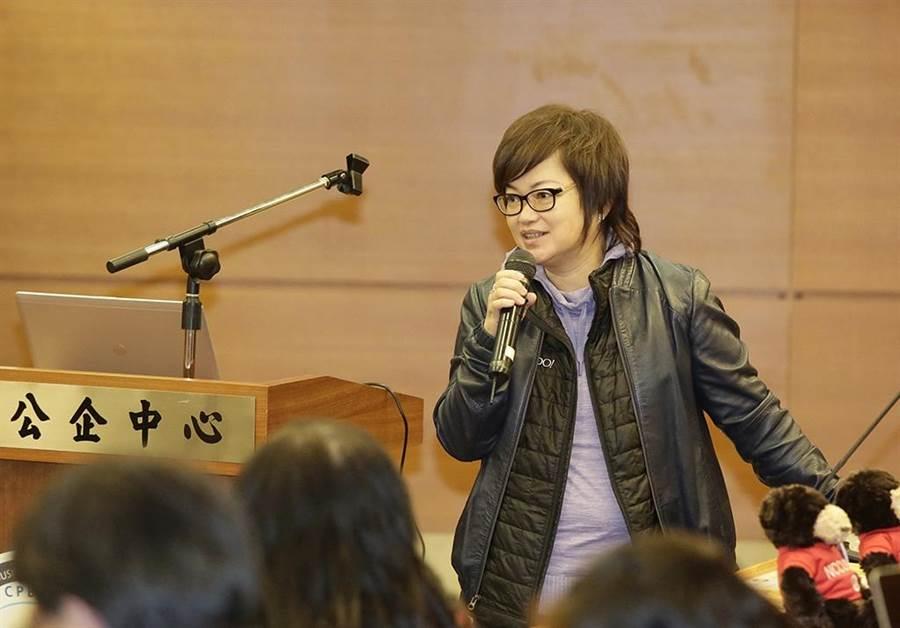 「電商大未來」講座主講人─Yahoo台灣董事總經理王興。(圖/林勝發攝)