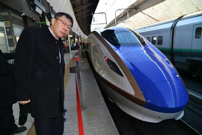 台北市長柯文哲到東京車站參觀。(圖/台北市政府提供)