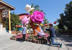 劍湖山迎春節 打造6公尺巨型花雕
