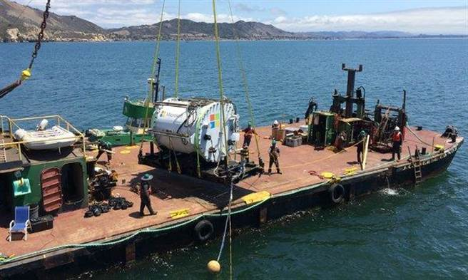 海底資料中心的原型於去年已經開始進行測試。(取自微軟網站)