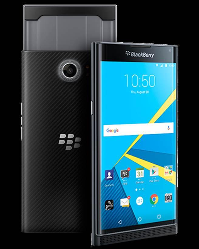 黑莓旗下第一款採用Android作業系統的智慧型手機—Priv。(圖/翻攝黑莓官網)