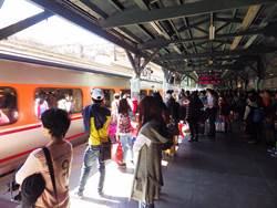 春節連假將結束 台鐵台中站未出現擠爆人潮