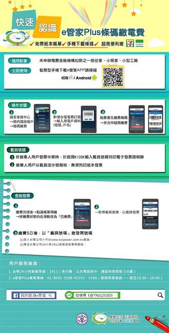 台電推e管家App 持手機可超商繳電費