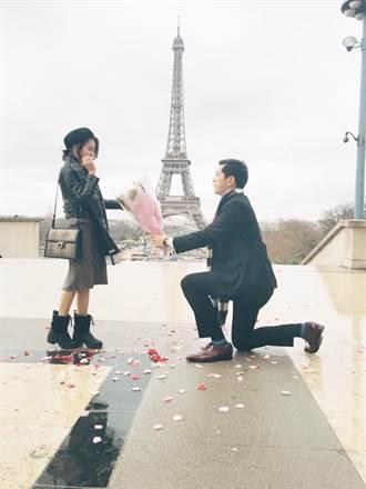 男友巴黎求婚 前《大學生》唐葳哭爆:我還以為你不會求婚了