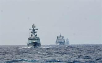 示警  中國艦隊繞行日本列島一圈