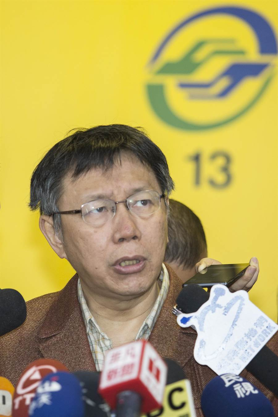 柯P表示台北市廣告實在太多,「中華民國美學」也讓他很受不了,所以他要開始管理。(陳仁萱攝)