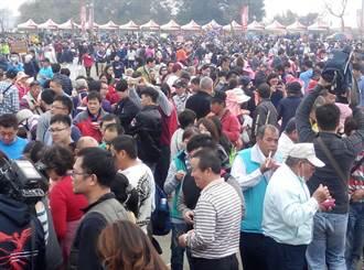 小英參加萬人吃飯擔 籲一起承擔台灣新開始