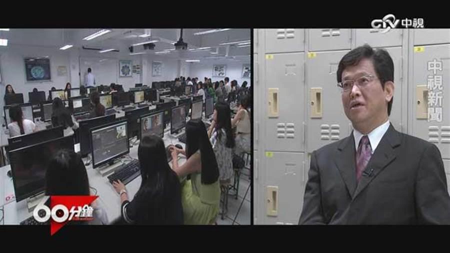 東吳巨量學院學程主任許晉雄表示 沒看到政府培養數據人才策略。(中視提供)