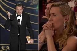 李奧納多等23年終拿首座奧斯卡 凱特溫絲蕾哭了!