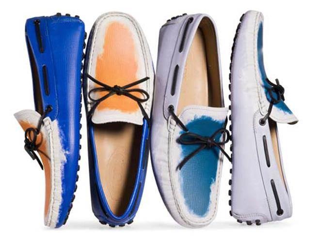 TOD`S暈染刷色豆豆鞋,重新定義休閒時尚。圖片提供/TOD`S