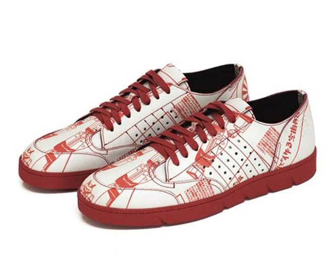 LOEWE太空銀河紅白運動鞋,建議售價28,000元。圖片提供/LOEWE