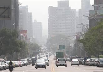 中南部多處PM2.5紫爆 台中一片灰濛濛