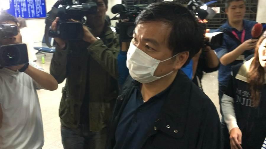 檢調偵辦藥事法案,約談補教名師徐薇丈夫江正明。(蕭博文攝)