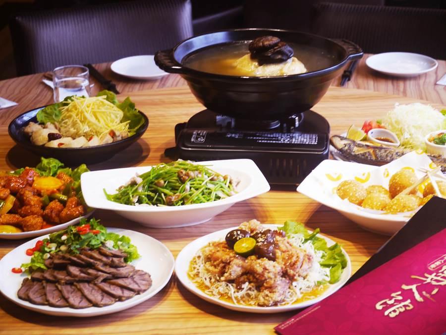 同事、家族聚餐,可選擇異人館台中漢口店2樓圓桌點選合菜,2人合菜價格從990元起。(業者提供)
