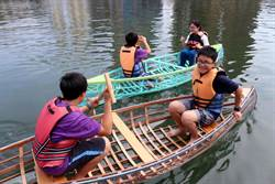 高市國中小師生 手工製獨木舟下水航行