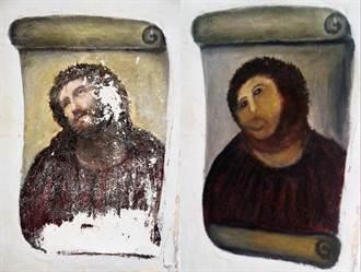 西班牙被修壞的耶穌像變熱門景點