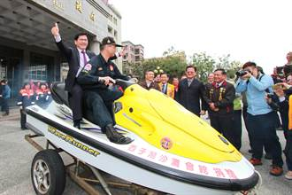 西子灣沙灘會館贈台中消防總隊3輛水上摩托車