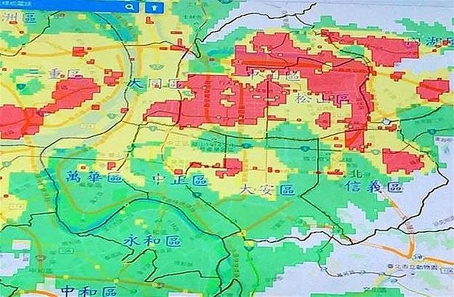土壤液化潛勢圖(圖/取自經濟部中央地質調查所「土壤液化潛勢區查詢系統」網站)