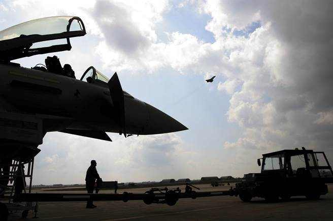 義大利空軍的颱風戰鬥機。(美聯社)