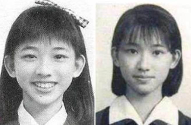 有網友翻出林志玲國中與高中青澀照。(圖/取材自微博)