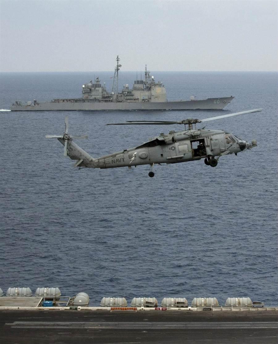 美國持續保有在南海自由航行的權利,圖為美軍太平洋艦隊。(圖/美聯社)