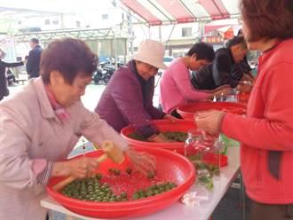 宜蘭羅東鎮農會 百人搓梅體驗