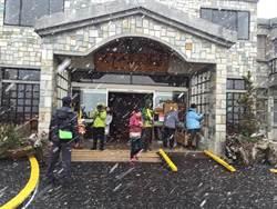 寒流發威 宜蘭太平山睽違7年降三月雪