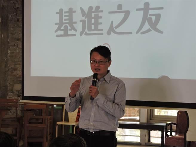 「基進側翼」成立台中分會,總召陳奕齊號召年輕人相挺。(張妍溱攝)
