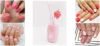 大人系可愛!Stawberry Milkshake草莓奶昔般的甜美指彩