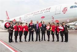 國泰港龍新形象客機 正式啟航