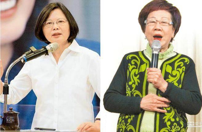 前副總統呂秀蓮(右)表示,蔡英文(左)的總統威望還沒有上任就受傷了,她很不捨。(圖為合成圖,皆取自本報系資料照)