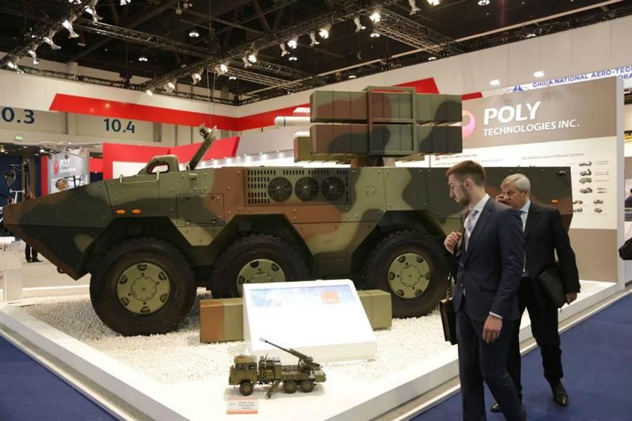 中國軍工產品亮相第十二屆阿布扎比防務展。(圖/新華社)