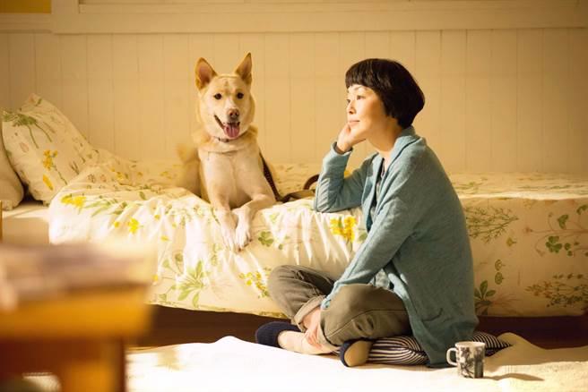 小林聰美在新片中呈現人與狗之間的情誼。(天馬行空提供)