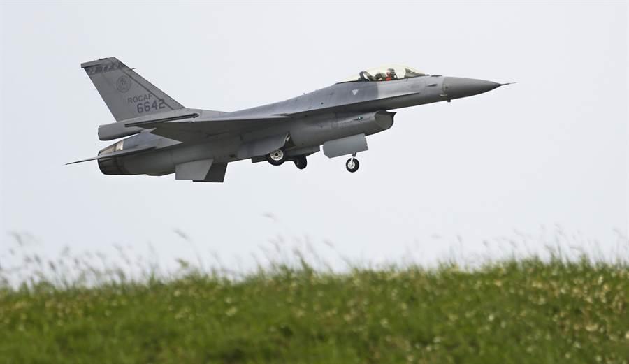 國軍的F-16戰鬥機,還將在未來保衛台灣空防的戰鬥中發揮作用。(張鎧乙攝)