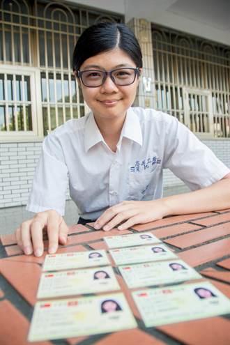 3C狂熱 高英工商劉馨鎂3張乙級證照破紀錄