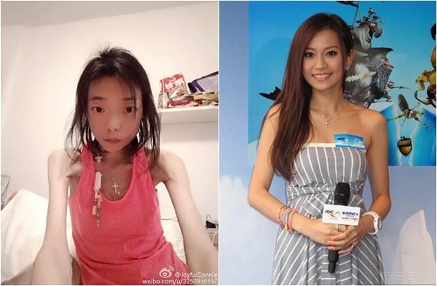 楊愛瑾(右)即將嫁給富商,但富商前妻伍智恆卻因大受打擊身體狀況不佳。(圖/達志影像、微博)