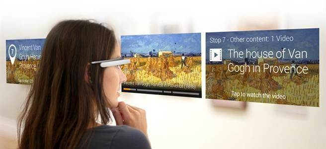 Google Glass可運用於博物館導航。(圖/Google提供)