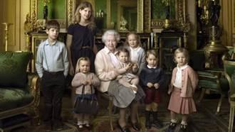 慶大壽 小公主小王子環繞 英女王展慈顏