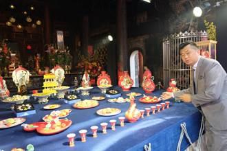 慶財神聖誕 北港武德宮打造百萬「法藍瓷宴王」