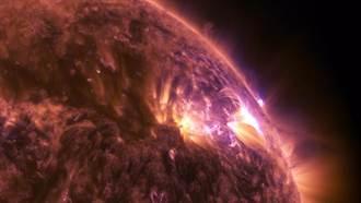 罕見!NASA釋出超高清太陽閃焰影片 畫面壯觀震撼