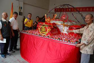 信眾集資 特製6000斤大米龜為媽祖祝壽