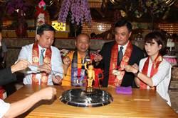 蘇嘉全赴台南 出席法王講堂浴佛法會