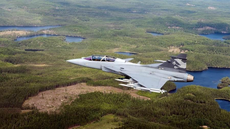 泰國的JAS-39在模擬空戰完勝大陸殲11。圖為瑞典空軍的JAS-39(圖/SAAB)