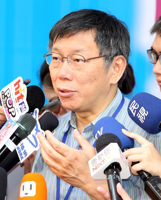 柯文哲表示,若在美國是資本主義、市場經濟,是用價格去調整,但在台灣就沒辦法,那就只好繼續排隊。(圖/王英豪攝)