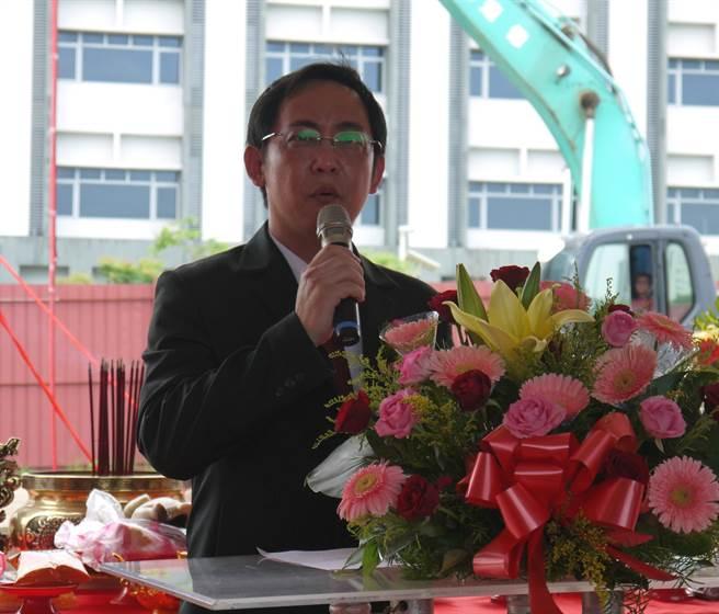 國璽董事長莊明熙表示,國璽是國內率先發展幹細胞新藥的廠商。(陳育賢攝)